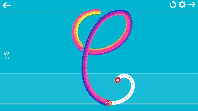 Ecrire l'alphabet sur un écran interactif tactile