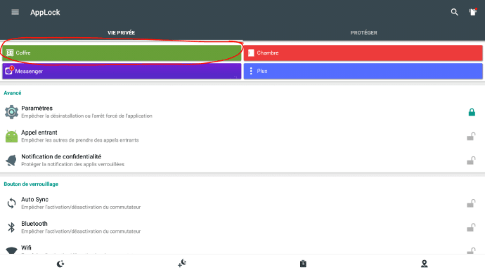 Un coffre de sécurité sur écran interactif