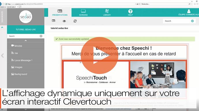 vidéo tutorielle pour apprendre à créer de l'affichage dynamique sur écran interactif