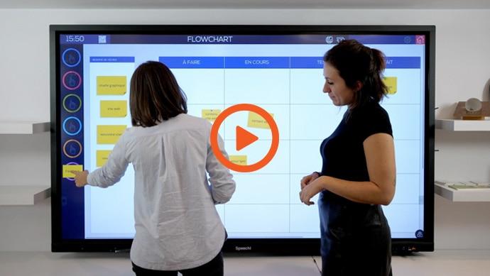 Ubikey, un logiciel de collaboration et de planification pour écran interactif