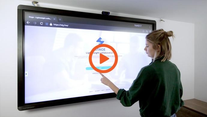 La vidéo de démonstration du logiciel de collaboration Stage pour écrans interactifs Clevertouch