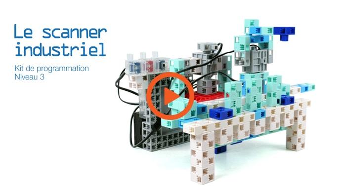 La vidéo du robot scanner industriel du manuel 13 de programmation de l'éducation nationale