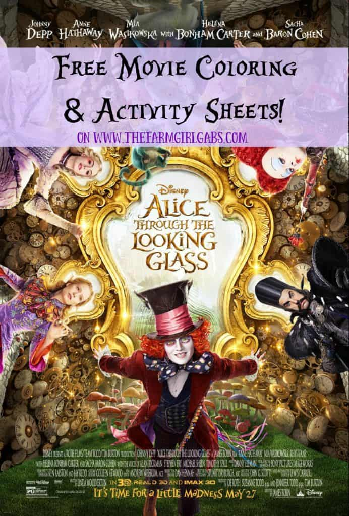 Alice Through The Looking Glass Coloring & Activity Pages