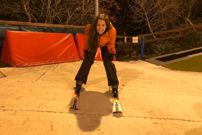Learning to ski on an artificial ski slope with the Ski Club of Ireland