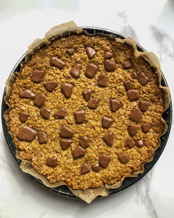 Flapjacks in a baking dish