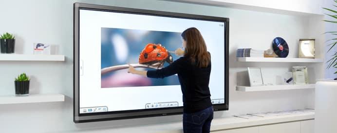 definition ecran interactif