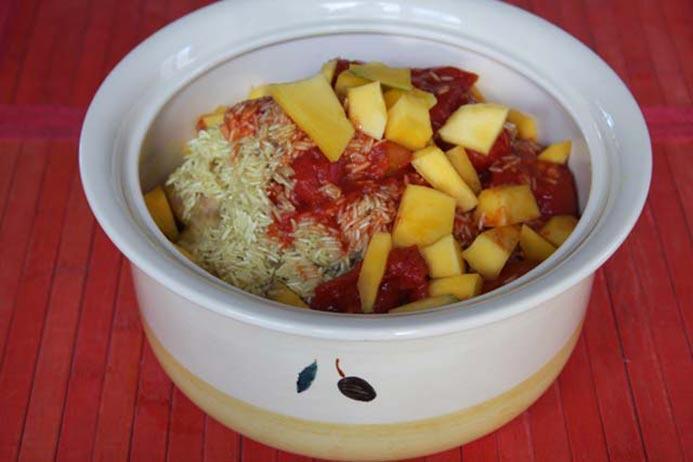 baked creamy Mango Chicken Curry Recipe