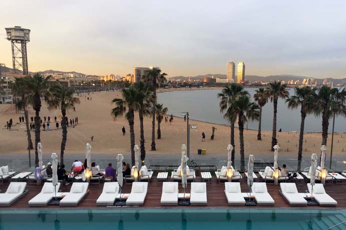 W Hotel Barcelona review sun terrace and wet deck area.