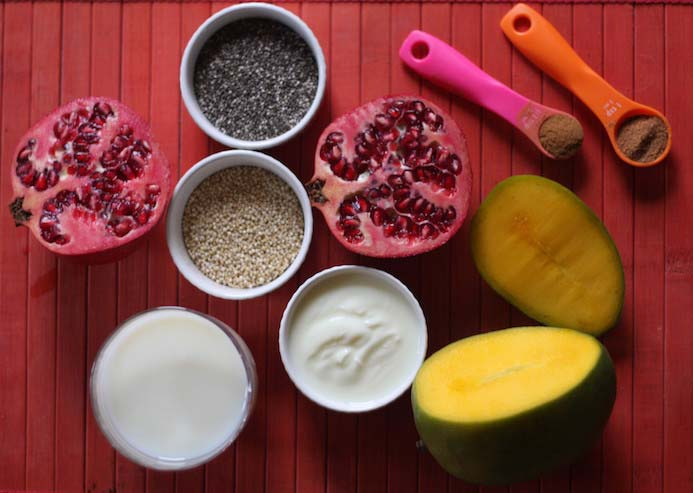 Quinoa porridge recipe ingredients