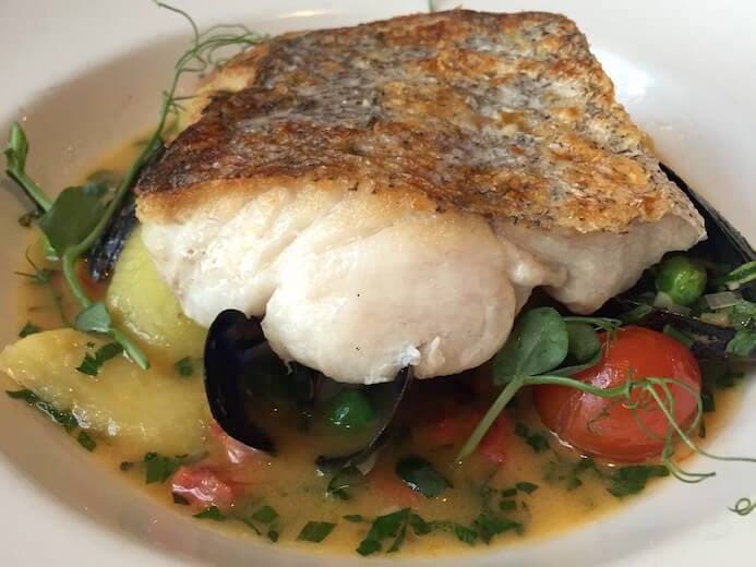 review Hake in a herb broth