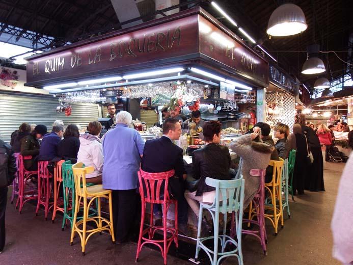 La Boqueria Food Market in Barcelona tapas bars