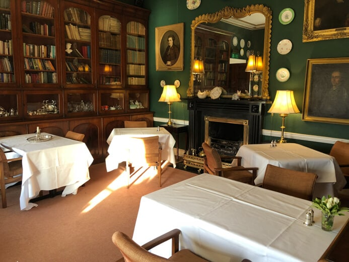 Longueville House Restaurant review - this is the elegant Library Restaurant