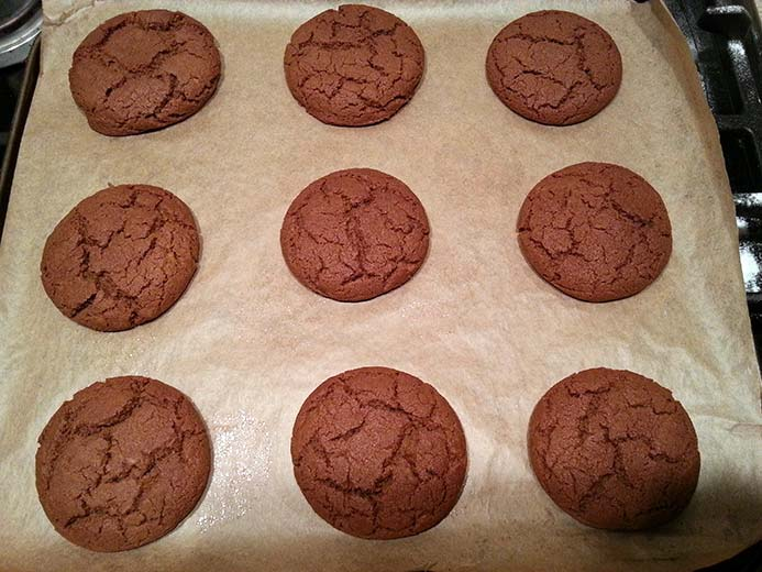 batch of ginger nut biscuit recipe