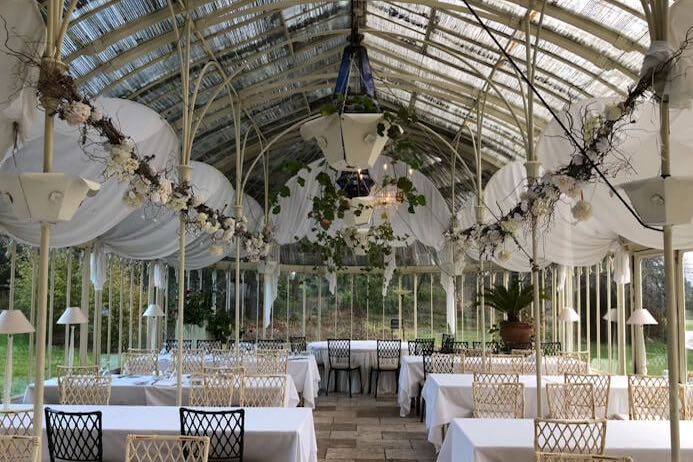 Longueville House Cork review - this is a stunning four-star heritage-listed Georgian property in Mallow Co. Cork in Ireland. This is the beautiful Turner Victorian Conservatory. Longueville House Restaurant review.