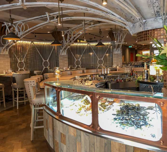 Sole Seafood and Grill Dublin Restaurant review. The elegant decor.