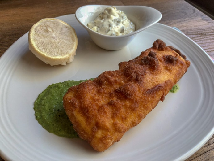 Sole Seafood and Grill Dublin Restaurant review by Melanie May. A plate of fish and chips.