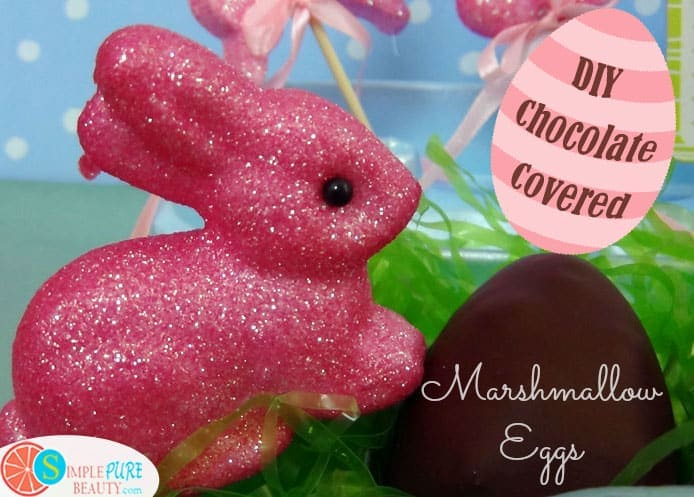 A Healthier Chocolate Covered Marshmallow Egg | SimplePureBeauty.com