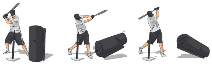 At-Home Baseball Drills - Heavy Bag Knockdown Drill