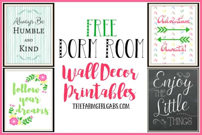 Dorm Room Wall Decor Printables