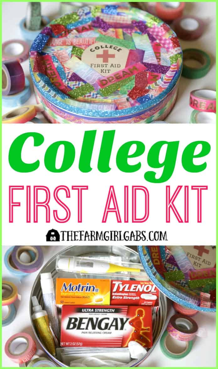 This College First Aid Kit will keep your college student prepared and healthy when they are on campus. Fill up this jazzy DIY Washi Tape tin with first aid essentials. AD #PositivelyPrepared #BackToSchool