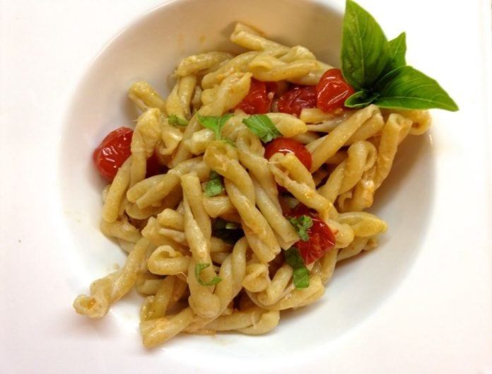 Gemelli Pasta with Tomatoes, Basil and Garlic is one of my favorite recipes not only because it comes together quickly but it's full of simple, fresh and delicious ingredients... ZagLeft