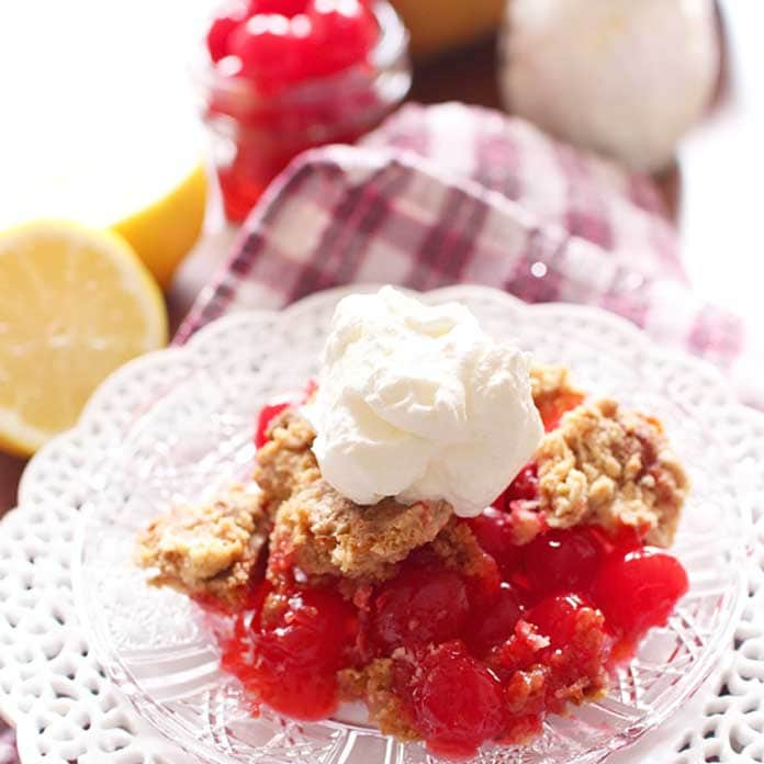 Double Cherry Dump Cake for One