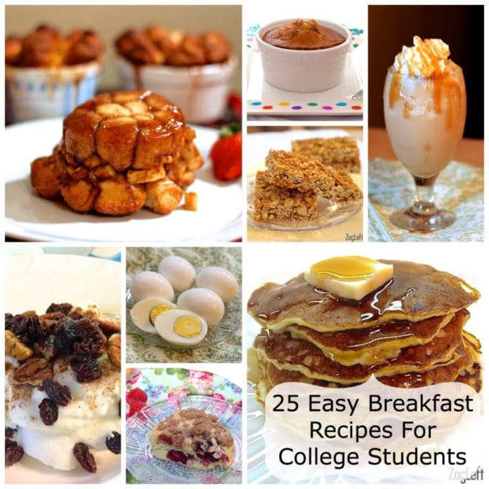 25 Easy Breakfast Recipes For College Students www.zagleft.com