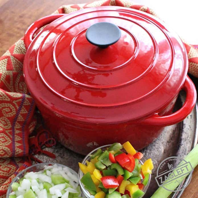 Whether you're a beginner cook or a seasoned veteran, you'll find many reasons why a Dutch oven is perfect for every kitchen. From stove to oven, you won't find any piece of kitchen equipment more versatile. Here I'm sharing how to make a smoky and slightly spicy Smoked Sausage and Seafood Gumbo with my Dutch Oven. | ZagLeft