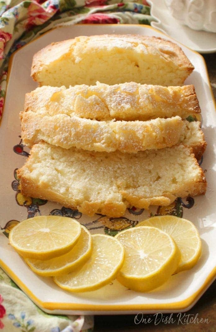 slices of pound cake on a plate   one dish kitchen