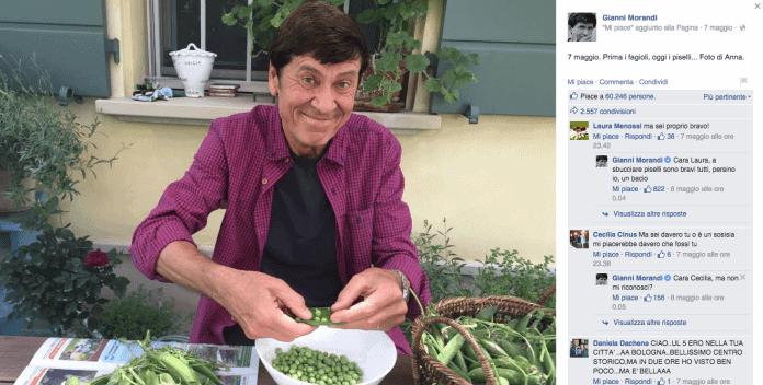 Gianni morandi mangia la merda Morandi coprofago