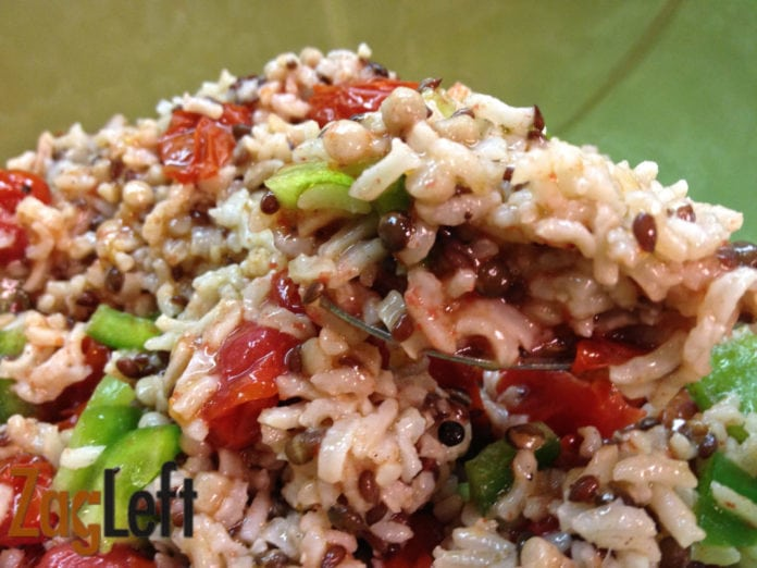 rice and tomato salad from zagleft