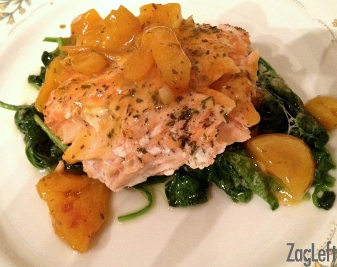 Apricot Ginger Glaze for Salmon - Meatless Meals for Lent from ZagLeft.jpg