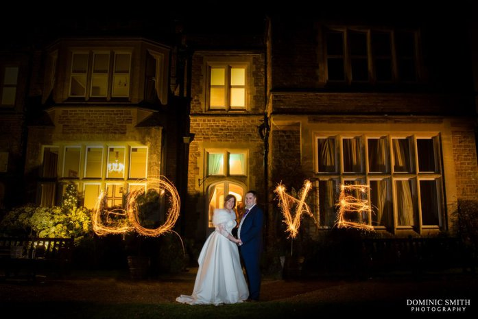 LOVE Sparkler photo at Hartsfield Manor