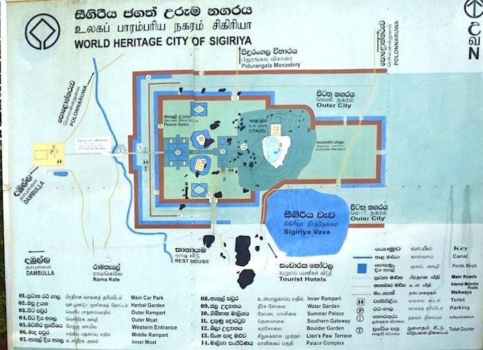 シギリヤロック内の地図画像