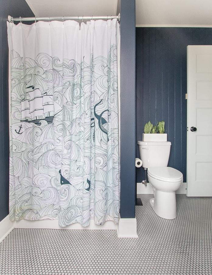 nautical shower curtain boys bathroom