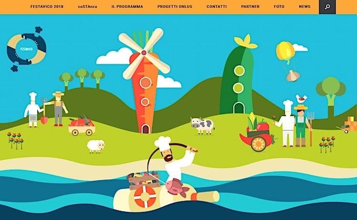 フェスタヴィーコのサイト画像