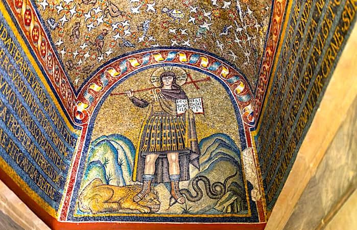 サンタンドレア礼拝堂のモザイク画の画像