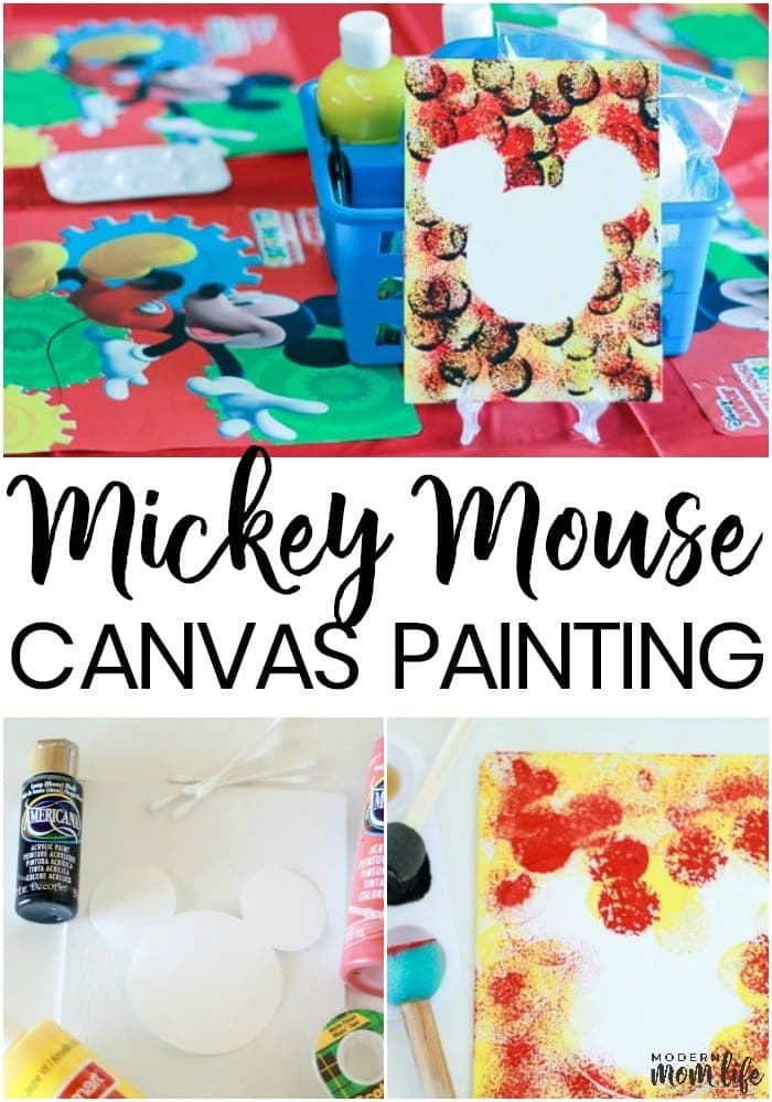Mickey Mouse Painting Party