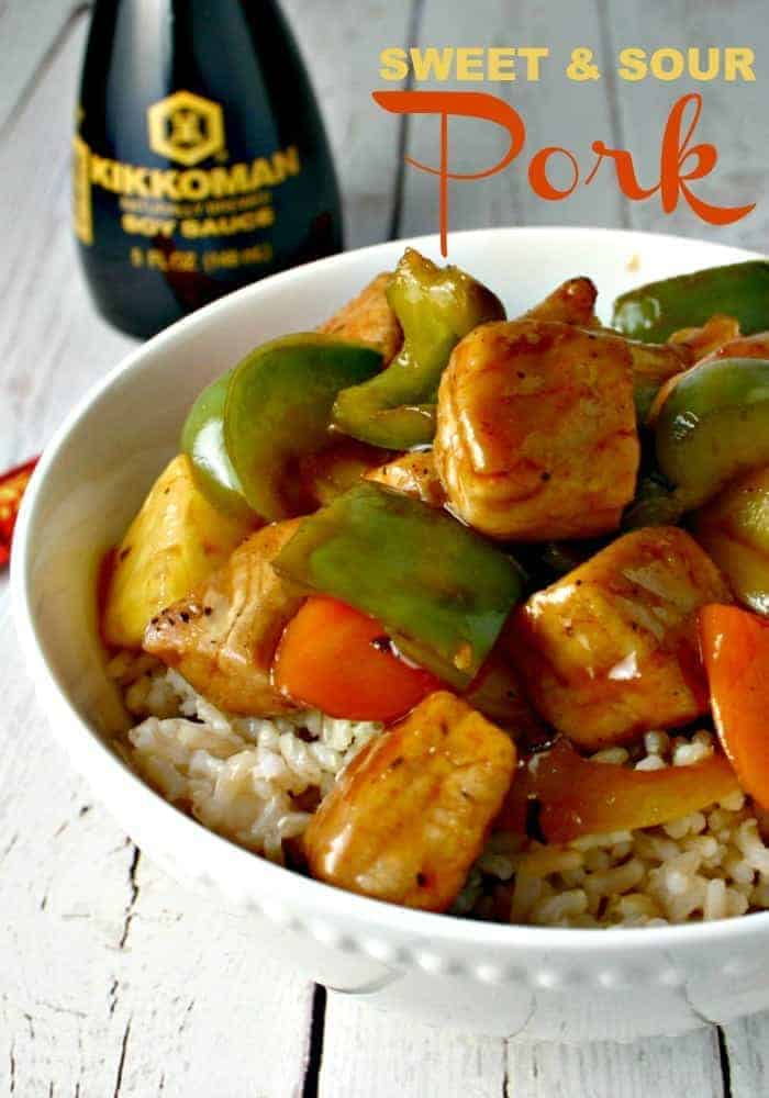 Sweet & Sour Pork with Emeril's famous Essence tossed in a deliciously sweet sauce with veggies & pineapple - BAM!