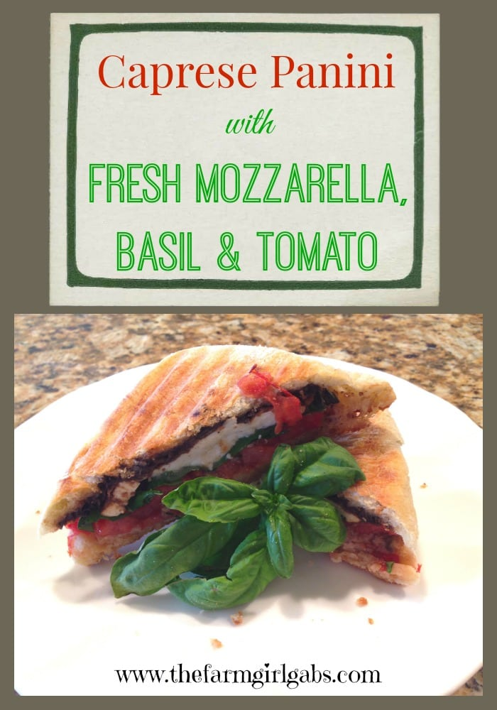 Caprese Panini with Fresh Mozzarella from How Does Your Garden Grow? ~ www.thefarmgirlgabs.com