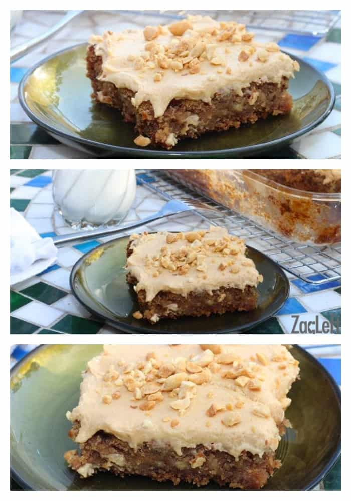Banana Oatmeal Sheet Cake - the moistest, most flavor packed cake I've ever tasted