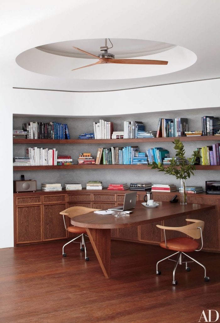 WOODEN SMALL HOME OFFICE DESIGN