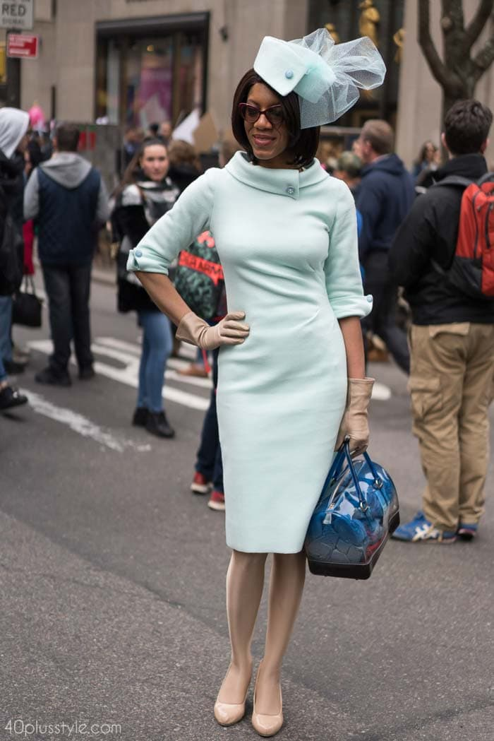 Chic in mint blue! - Easter Parade outfits | 40plusstyle.com