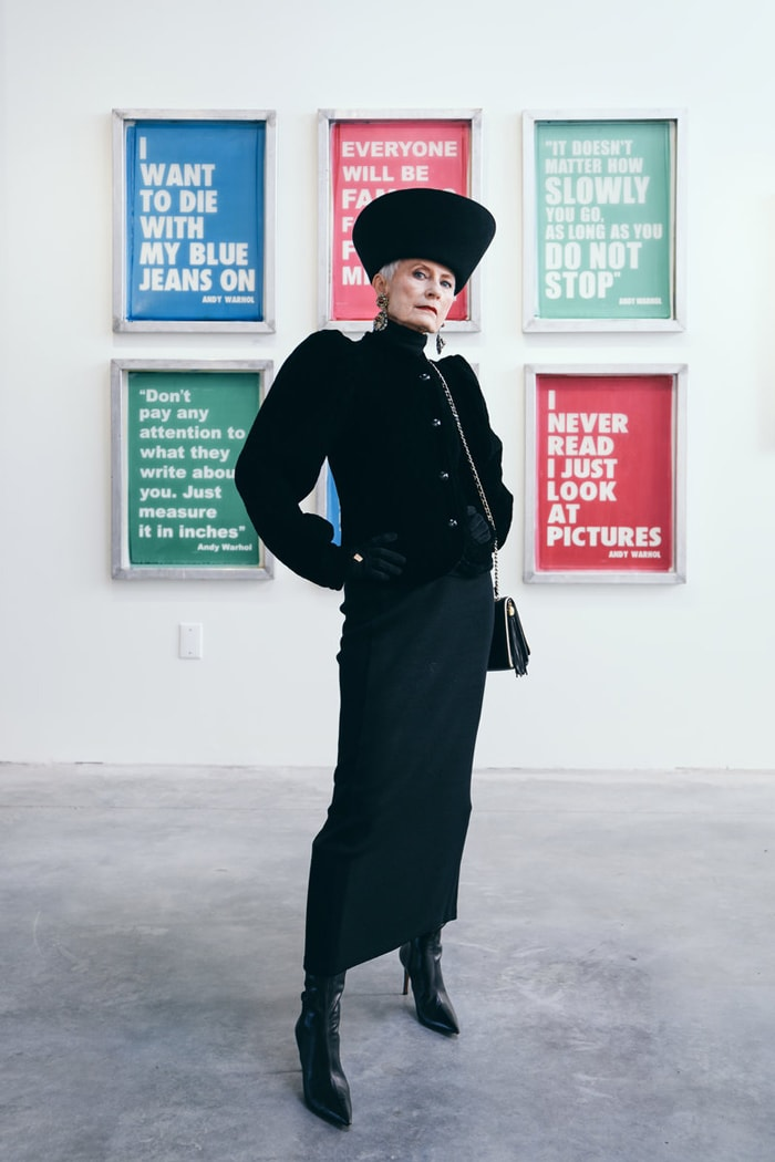 Judith in an all black outfit | 40plusstyle.com