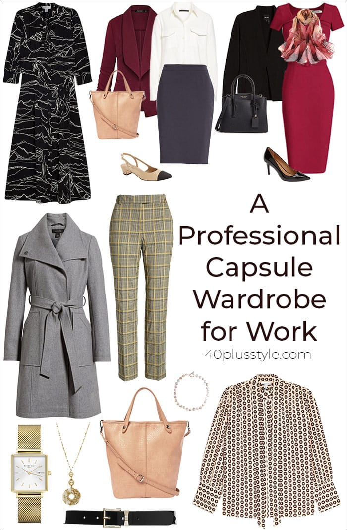 A Professional Capsule Wardrobe for Work | 40plusstyle.com