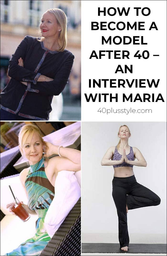 How to become a model after 40 – an interview with Maria | 40plusstyle.com