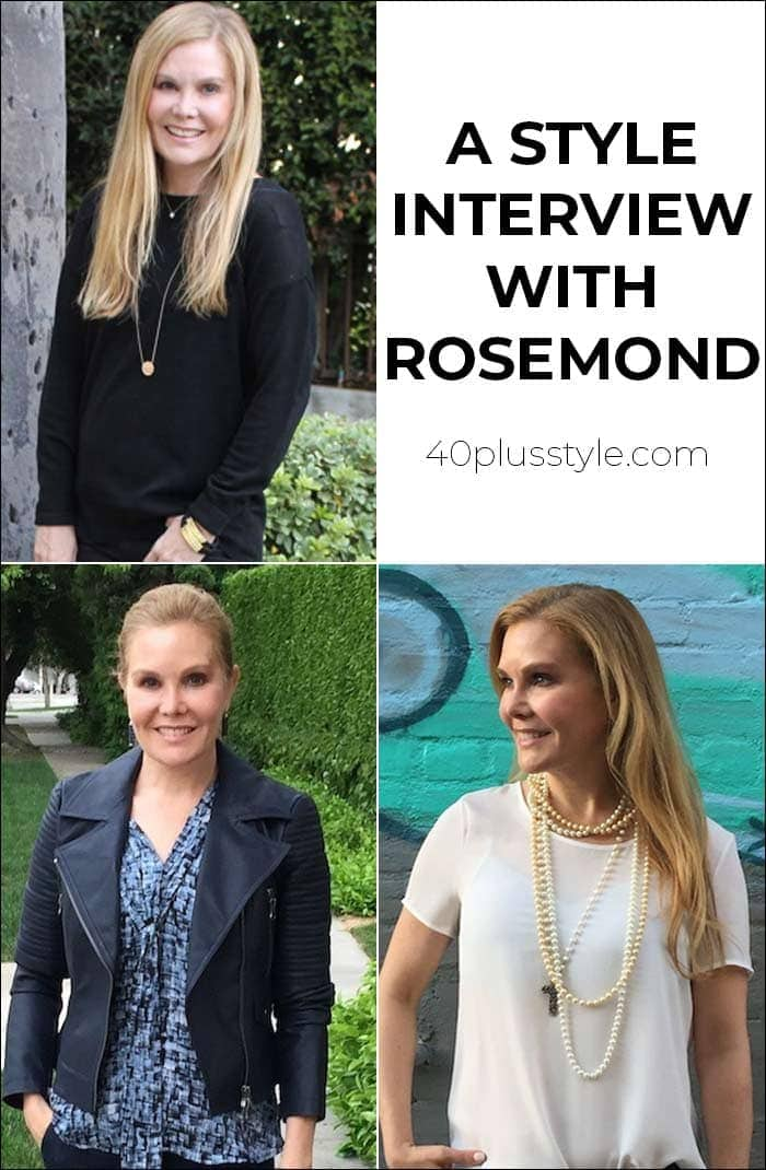 A style interview with Rosemond | 40plusstyle.com