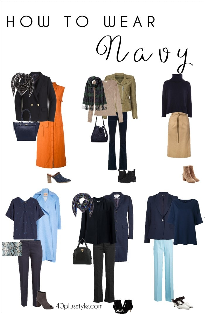 How to wear navy | 40plusstyle.com