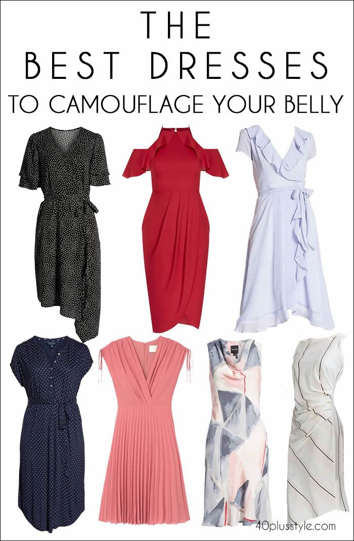 The best dress to hide your tummy | fashion over 40 | 40plusstyle.com