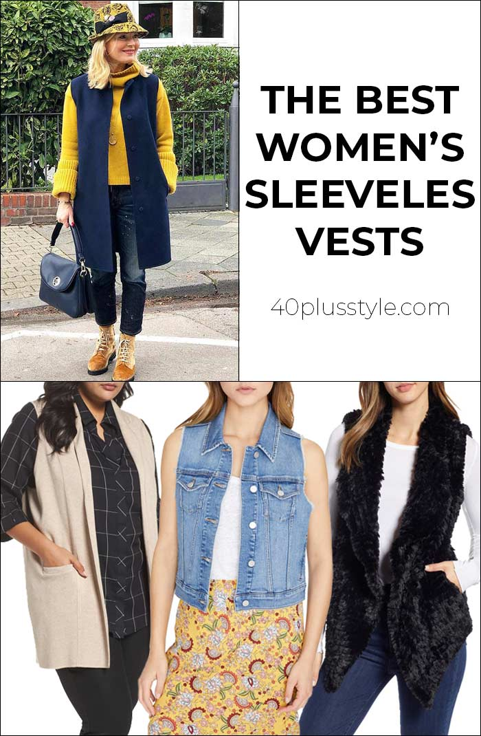 The best women's sleeveless vests | 40plusstyle.com